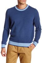 Thomas Dean Elbow Patch Wool Blend Sweater