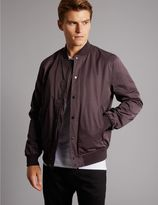 Marks and Spencer Cotton Blend Bomber Jacket with StormwearTM