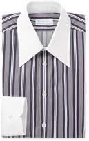 Kingsman + Turnbull & Asser Rocketman Navy Slim-Fit Striped Cotton Shirt