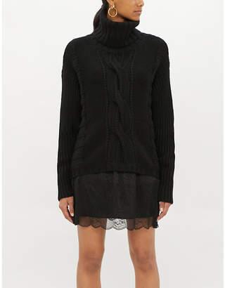 Zadig & Voltaire ZADIG&VOLTAIRE Jimy leopard-print silk jacquard skirt mini skirt
