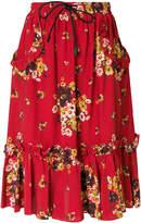 Coach floral frill skirt
