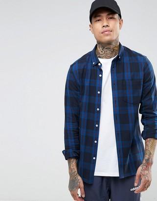 Asos DESIGN skinny check shirt
