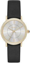 DKNY Women's Willoughby Black Leather Strap Watch 28mm NY2552
