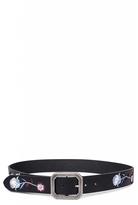 Quiz Black Embroidered Belt