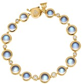 Temple St. Clair 18K Yellow Gold Single Round Bracelet with Royal Blue Moonstone and Diamond