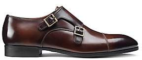 Santoni Men's Double Buckle Leather Dress Shoes
