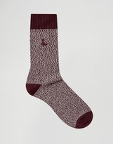 Jack Wills Boot Socks In Red