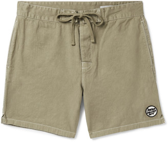 Outerknown Slim-Fit Appliqued Hemp And Organic Cotton-Blend Drawstring Shorts