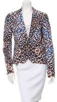 Just Cavalli Printed Denim Blazer