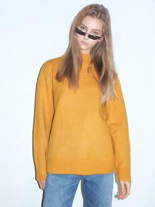 Lip Prits Turtleneck Sweater Mustard