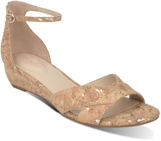 Bandolino Two-Piece Cork Wedge Sandals - Talia