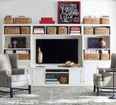 Pottery Barn Logan Media Suite with Door Bookcase & Bridge
