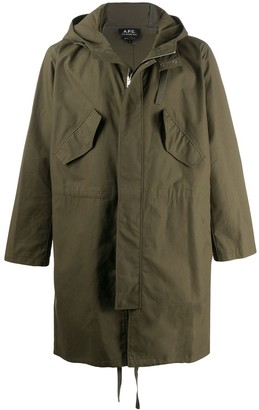 A.P.C. Relaxed Fit Hooded Parka
