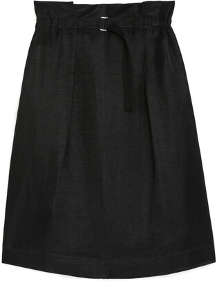 Arket Linen Paperbag Skirt