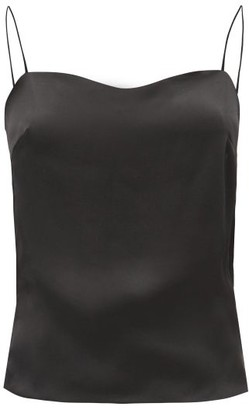 Alexandre Vauthier Scoop-back Silk-satin Cami Top - Black