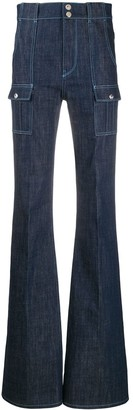 Chloé patch pockets flared jeans