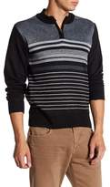 Burnside Partial Front Zip Stripe Sweater