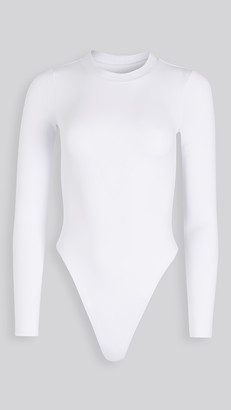 Good American Long Sleeve Crew Thong Bodysuit