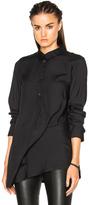 Ann Demeulemeester Asymmetric Popover Top in Black.