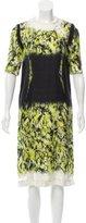 Proenza Schouler Silk Abstract Print Dress