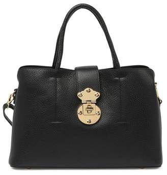 Persaman New York Marilyn Pebbled Leather Satchel