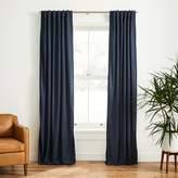 west elm Faux Silk Moire Curtain - Midnight