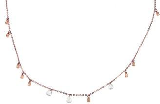 Lee Jones 3 Diamond Fairy Dust Rose Gold Choker Necklace