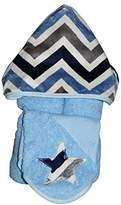 Tickle Toes - Hooded Towel on Blue