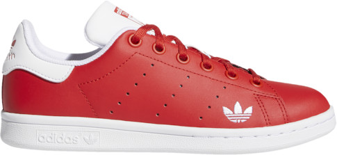 adidas Stan Smith Tennis Shoes - Red