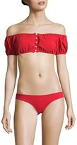 Lisa Marie Fernandez Two-Piece Leandra Button-Down Bikini