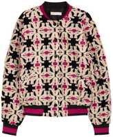 H&M Patterned Bomber Jacket - Black/patterned - Ladies