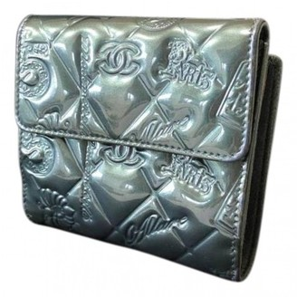 Chanel Grey Patent leather Wallets