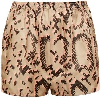 Rebecca J Mills Designs Scaled 2 Print Shorts Silk Cotton Mix Nightwear