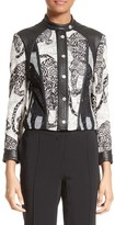 Yigal Azrouel Women's Lace & Leather Moto Jacket
