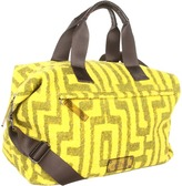 Echo Printed Boucle Medium Carryall (Chartreuse) - Bags and Luggage