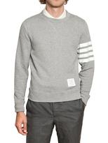 Thom Browne Cotton Terry Stripes Sweatshirt