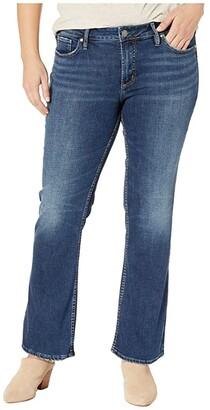 Silver Jeans Co. Plus Size Suki Mid-Rise Curvy Fit Slim Boot Jeans in Indigo W93616SDK424 (Indigo) Women's Jeans