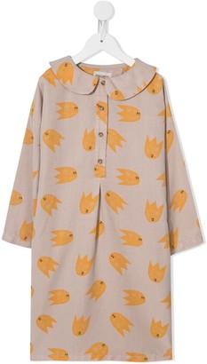 Bobo Choses Peter Pan Collar Graphic Print Dress