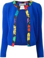 Moschino floral trim cardigan - women - Silk/Cashmere - 48