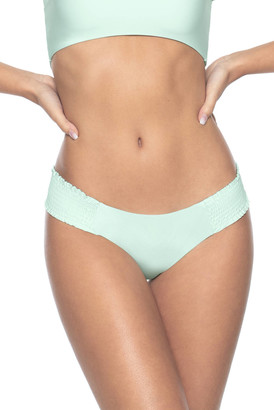 PQ Swim Azura Smocked Hipster Bikini Bottom Aqua S