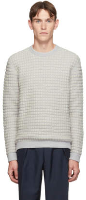 Giorgio Armani Off-White Bubble Knit Sweater