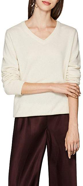 The Row Women's Maley Cotton V-Neck Sweater - Ivory