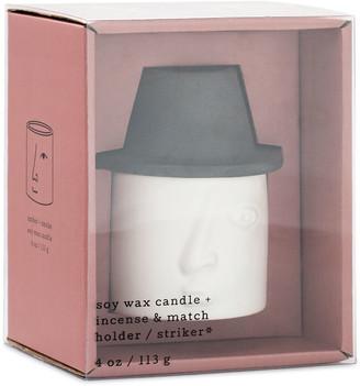 Paddywax 4 oz. Amber + Smoke Francesco Persona Candle and Match Striker Set