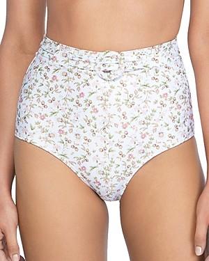 Peony Swimwear Floral High Waist Bikini Bottom