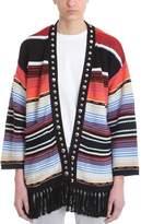 Laneus Multicolor Cotton Studs Cardigan