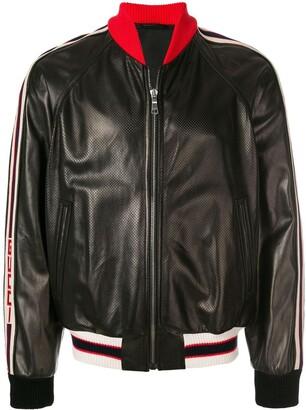 Gucci Stripe Trim Bomber Jacket