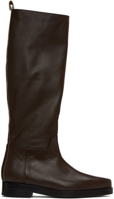 Low Classic Brown Western Long Boots