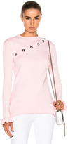 Marques Almeida Marques ' Almeida Snap Sweatshirt with Removable Sleeve in Pink.