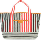 Sonia Rykiel striped tote - women - Cotton/Calf Leather - One Size