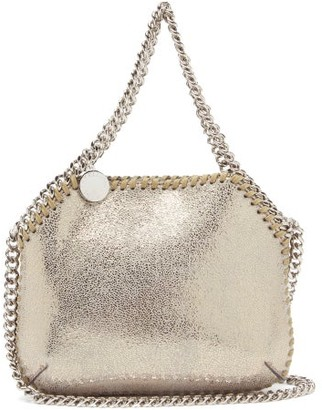 Stella McCartney New Falabella Mini Faux-leather Shoulder Bag - Gold